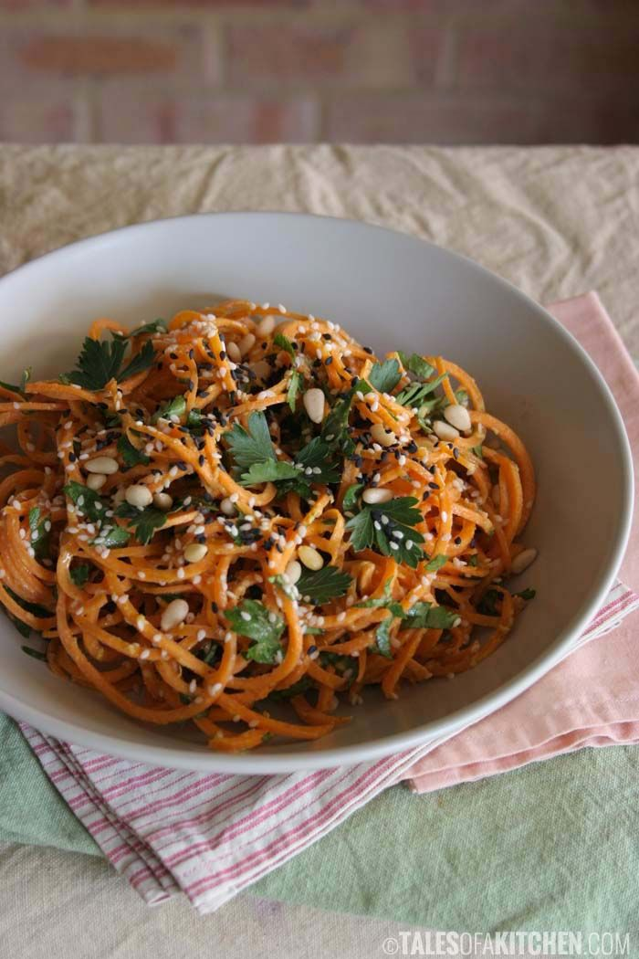Carrot pasta with a creamy zesty garlic sauce | Tales of a Kitchen | Tales of a Kitchen | Bloglovin