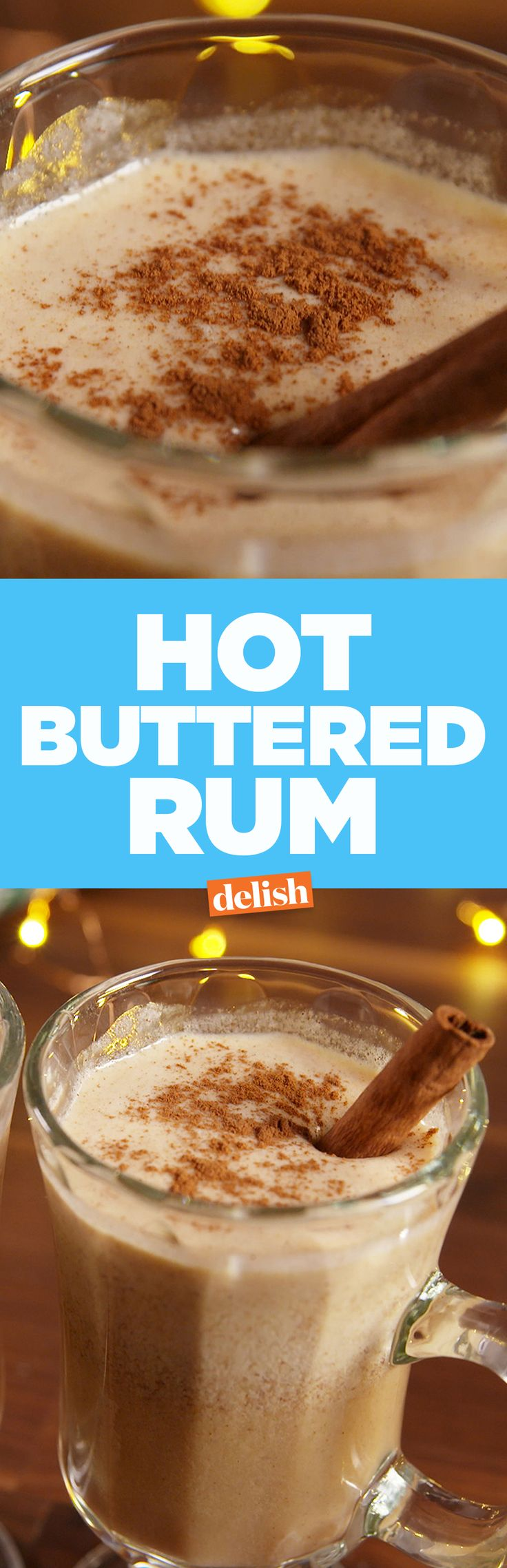 Bet you had no idea that this is how you make Hot Buttered Rum. Get the recipe from Delish.com.