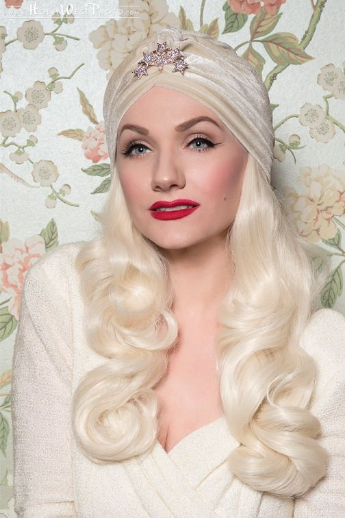 Ziegfeld Turban is inspired by the film Ziegfeld Girl, and the silver screen splendor of Hedy Lamarr and her sparkling star headpiece. This stunning...