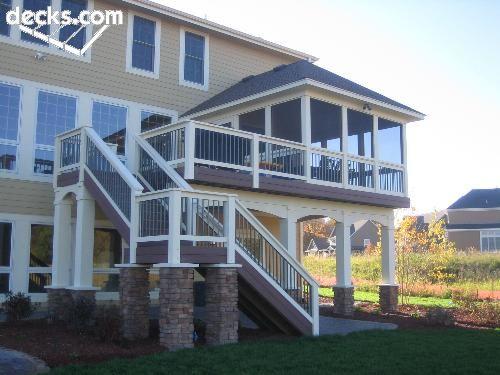 best 25+ high deck ideas on pinterest | second story deck, two ... - Screen Patio Ideas