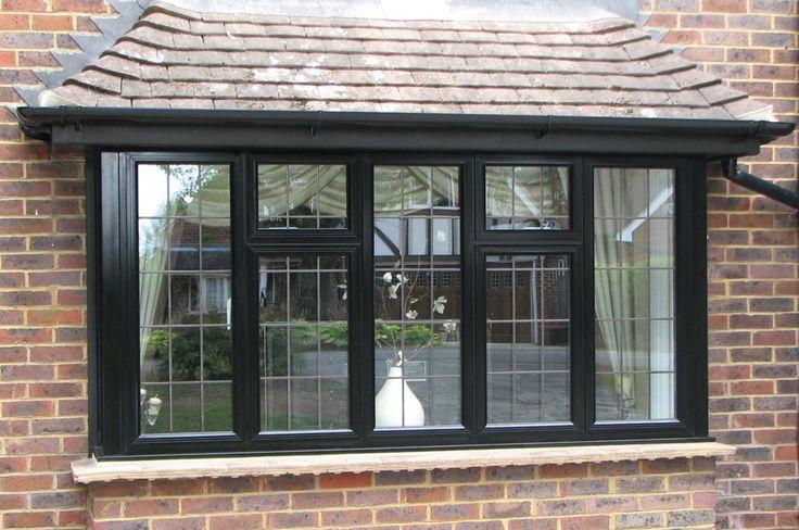Black aluminium casement windows
