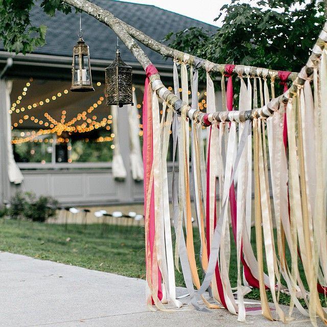 We do string lights. We do lanterns. We do tree makeovers :) And we (have to) do hashtags... #stringlights #abingtonartcenter #stringlightwedding #stringlightsphiladelphia #streamers #weddingstreamers #ribboncascade  Incredible image by @emilywrenphoto