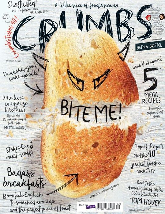 #MagLoveTop10 22 January 2016. Yummiest foodie magazine covers of 2015: #5. Crumbs, August 2015.