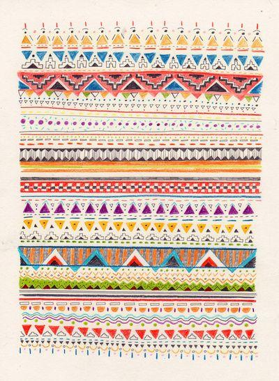 super colorful pattern