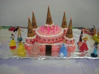 recipe and diy: easy princess cake by Designing & Motherhood