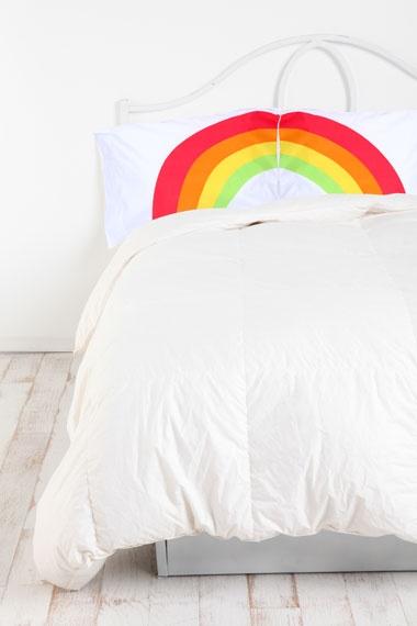 Taies d'oreiller motif arc-en-ciel/rainbow/pillow