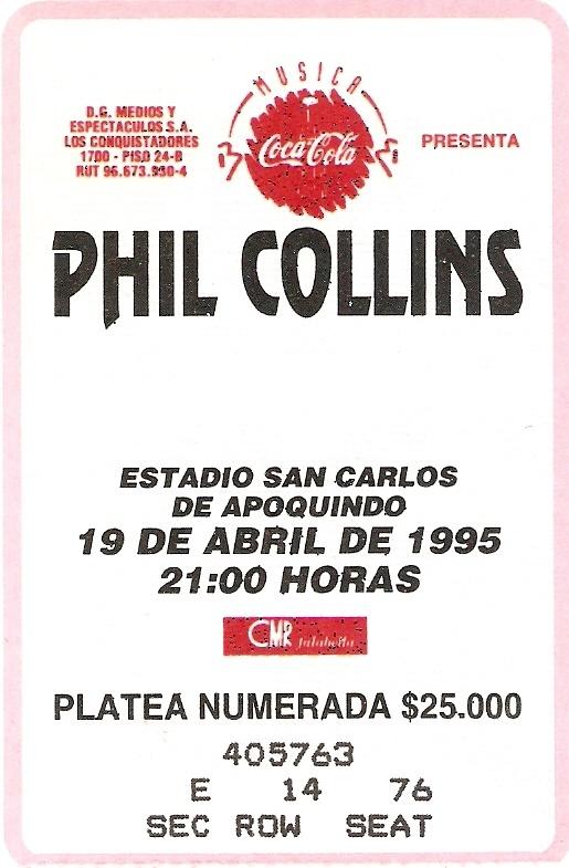 Phil Collins Live in Santiago, Chile 19041995 Phil
