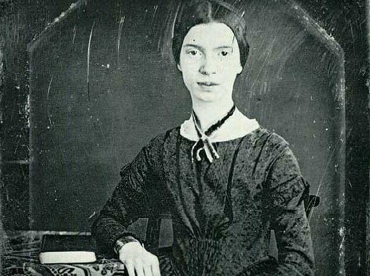 A daguerreotype of Emily Dickinson, taken in 1846.