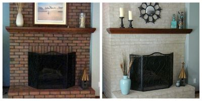 Fireplace Decorating: Use Brick Fireplace Paint to Transform Your Fireplace