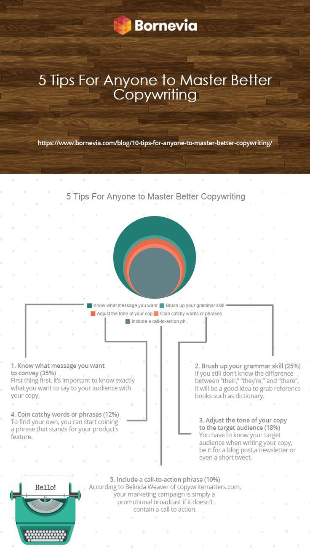 5 tips to Master better copywriting #writing #writer #copywriting #master #infographics