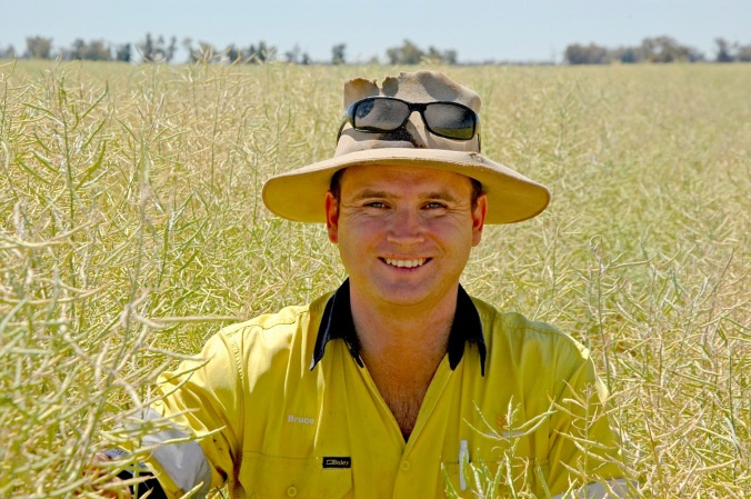 #NSW grower Bruce Watson, in his field of IH50RR canola. Bruce was one of the first #farmers in #Australia to trial IH50RR, Bayer's first Australian hybrid #canola variety.