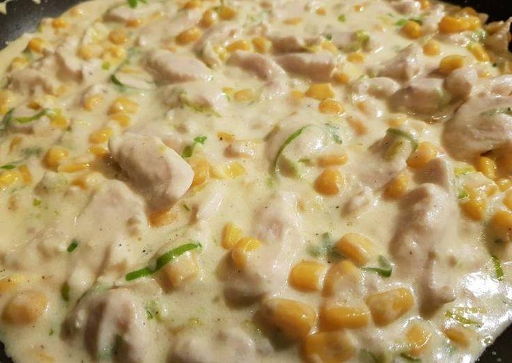 Tejfölös kukoricás csirke