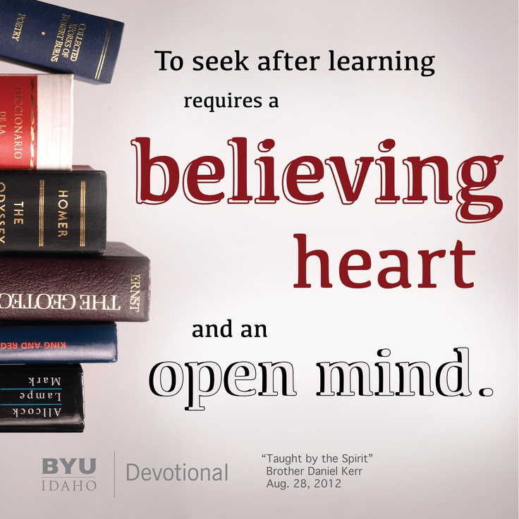 Taught by the Spirit. BYU-Idaho Pathway & Online Programs. . . . . . . . . . . . . . . . . . . .. . . . . . . . ☆ FaithNlogic™ http://www.facebook.com/rexburgcomputer