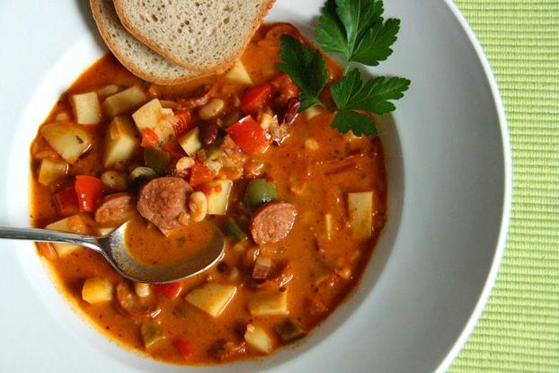 Serbische Bohnensuppe