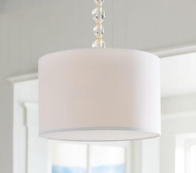 Acrylic hanging drum pendant