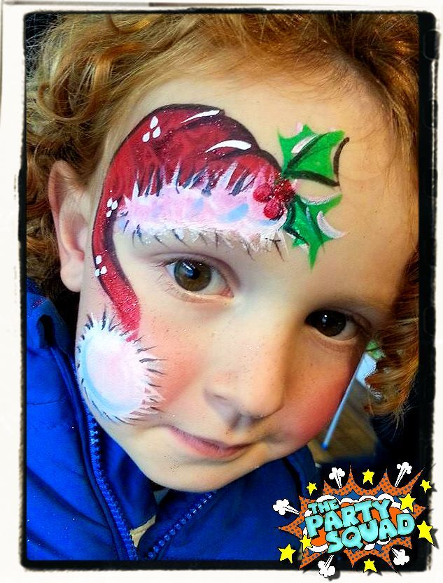 Cute Christmas Face Painting perfect for your Festive Fun! Painted by Ditzy Doodles http://www.thepartysquad.co.uk/ http://www.facebook.com/ThePartySquadUK/