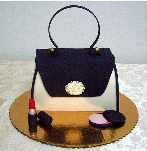 Best Shoes And Purse Cakes Images On Pinterest Fashion Cakes - Purse birthday cake ideas