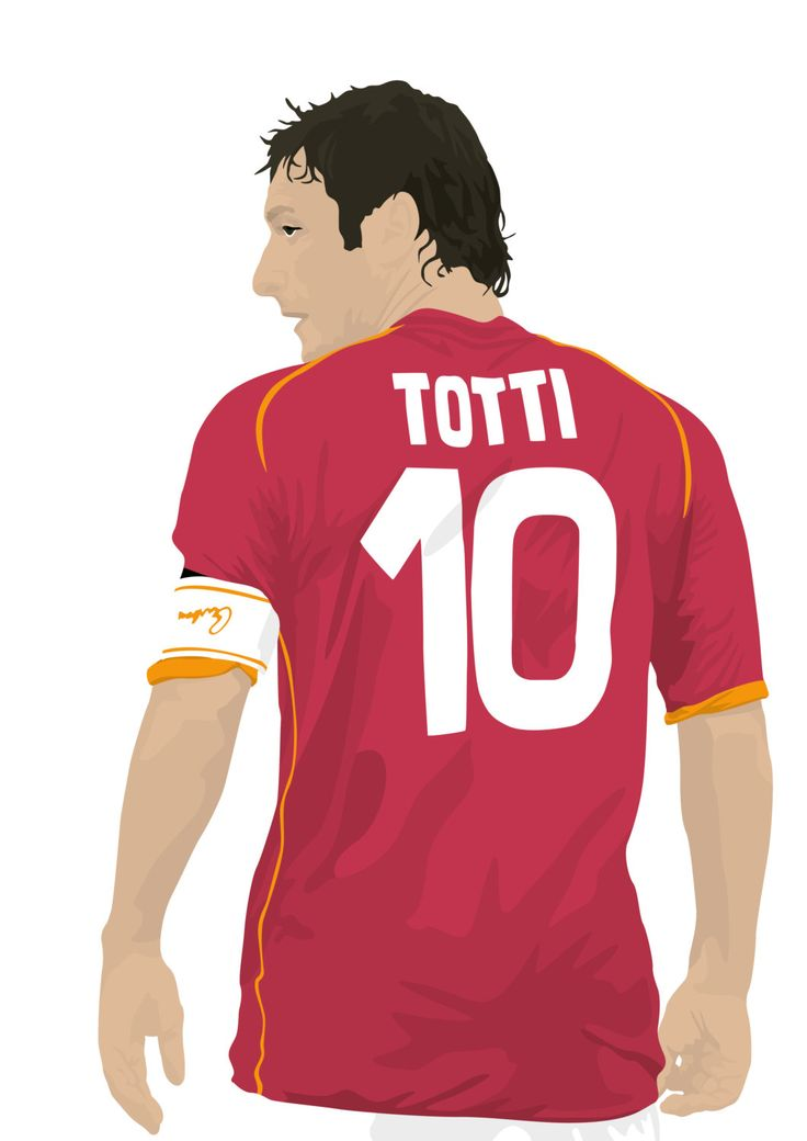 Francesco Totti A3 cartel: 297mmx420mm Roma Roma por EntireDesign