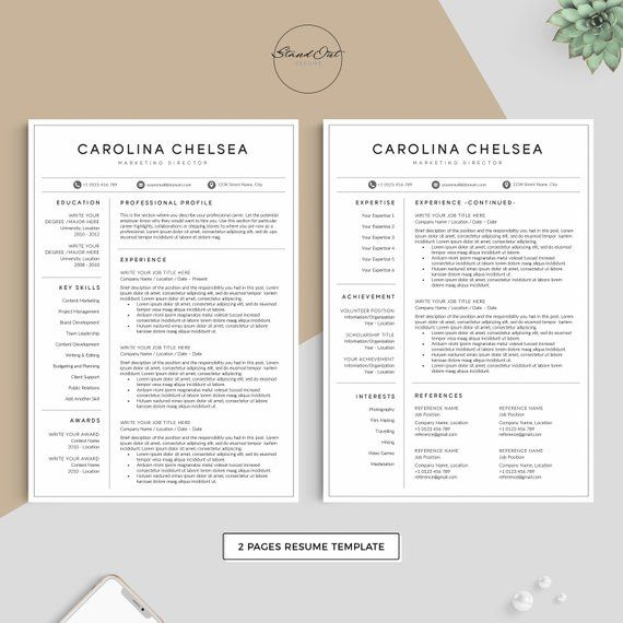 Professional Resume Template | Modern Resume for Word | CV