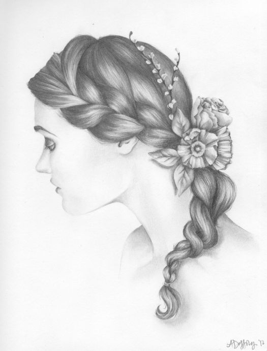 137 best braid drawing images on Pinterest   Braid drawing