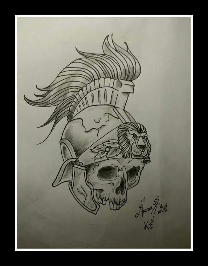 #tattoo  #skull #ink #teschio #elmo #guerriero #tattoowork #black&white