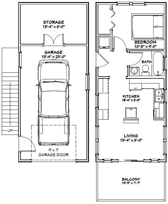 14X32 Floor Plan - 567 sq ft