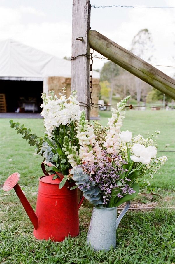 Rustic Pink And White Australian Wedding