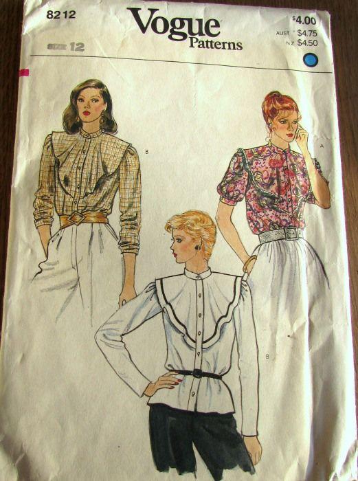 Vintage patronen vogue 8212