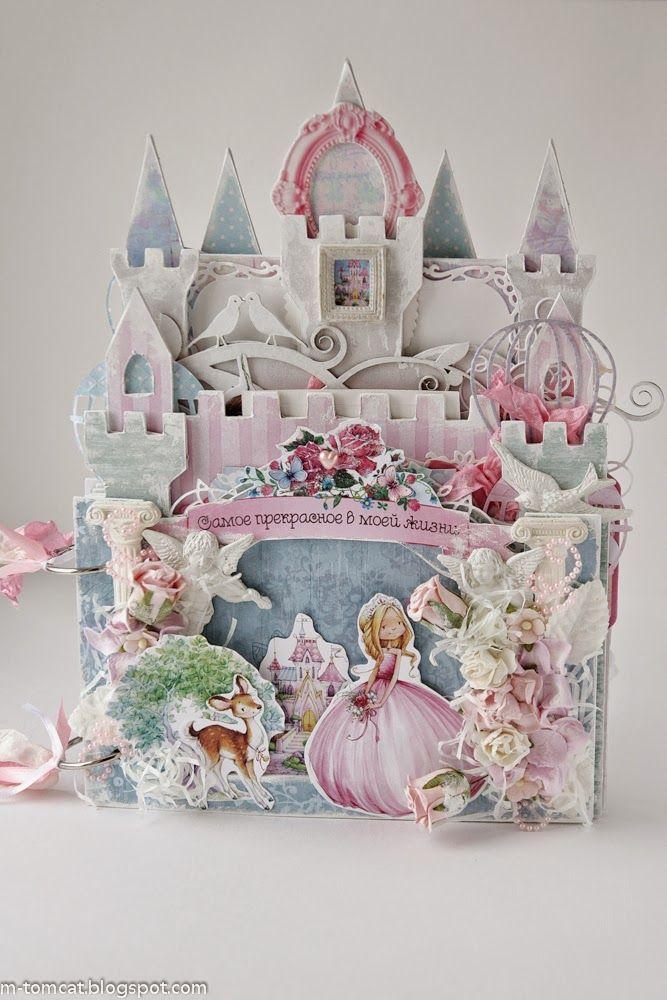Открытка для принцессы скрапбукинг, февраля