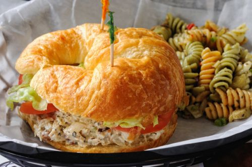 Croissant, Tuna and Croissant sandwich on Pinterest