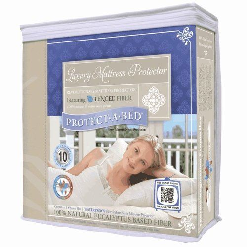 Protect-A-Bed Luxury Waterproof Mattress Protector, Twin XL by Protect-A-Bed. $76.49. Thermo-regulating Tencel is coolest waterproof protector to sleep on. Breathable Barrier Fabric: Guaranteed NOT hot to sleep on. Allows body vapor to breathe. Tencel. Waterproof: Polyurethane film backing repels liquids like urine and sweat. Fits Twin XL size mattresses. Dimensions: 38 x 80 x 14 in.. Tencel is all natural, organic, chemical-free and smoother on skin than cotton. The Luxury T...