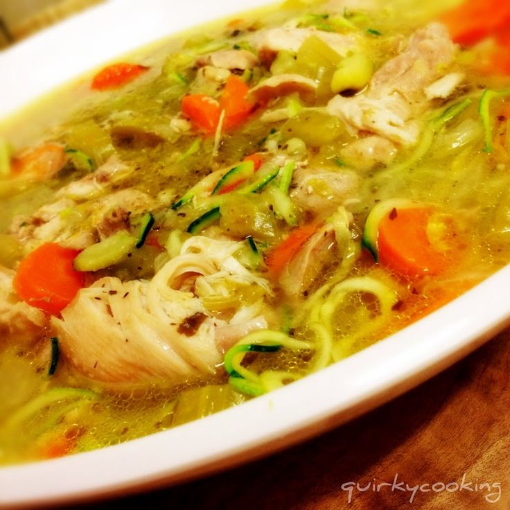 Chicken Zoodle Soup - Quirky Cooking