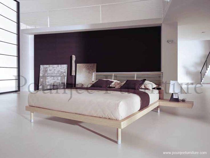 BED MINIMALIS NATURAL | POUNJEE FURNITURE