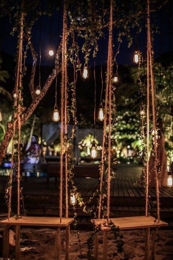 Edison bulb wedding decorations ideas