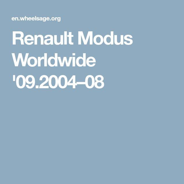 Renault Modus Worldwide '09.2004–08