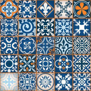 middle ages: Ilustración del vector de Marruecos Azulejos Modelo inconsútil de diseño, Web site, fondo, bandera. Elemento de papel tapiz o textil. Plantilla Edad Media Ornamento Textura