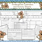 Kindergarten calendar/math activity sheets - A great way to start the morning!  Students write the month, day and number of the day.  There is a pl...