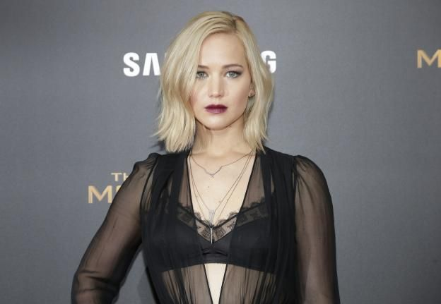 Jennifer Lawrence arrives on the red carpet at 'The Hunger Games: Mockingjay- Part 2' New York Premiere at AMC Loews Lincoln Square 13 Theater on November 18, 2015 in New York City. Photo by John Angelillo/UPI