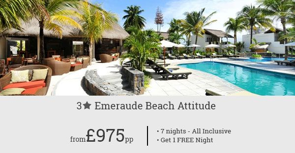 Experience the tropical charm of Mauritius with our awesome deal for Emeraude Beach Attitude Hotel. Book now and set off for a perfect Mauritian escape.