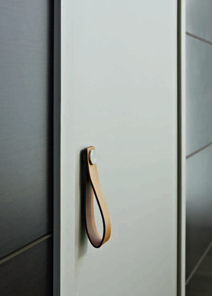 Leather pull details pinterest for Door pull handles