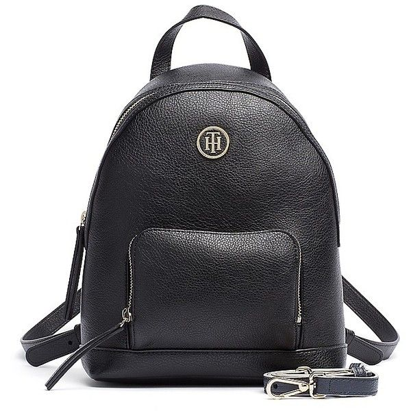 Tommy Hilfiger Signature Mini Backpack ($130) ❤ liked on Polyvore featuring bags, backpacks, mini backpack, mini tote bags, tommy hilfiger tote bag, mini tote and zip tote bag