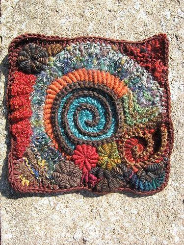 Freeform Crochet Square
