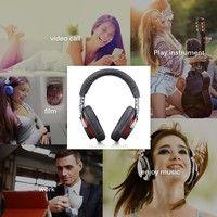 Geek   ZEALOT B5 Headphones with SD Wireless Headset Comfortable Headphones High Fidelity Hands-free Calls Stereo Music (Color: Black)