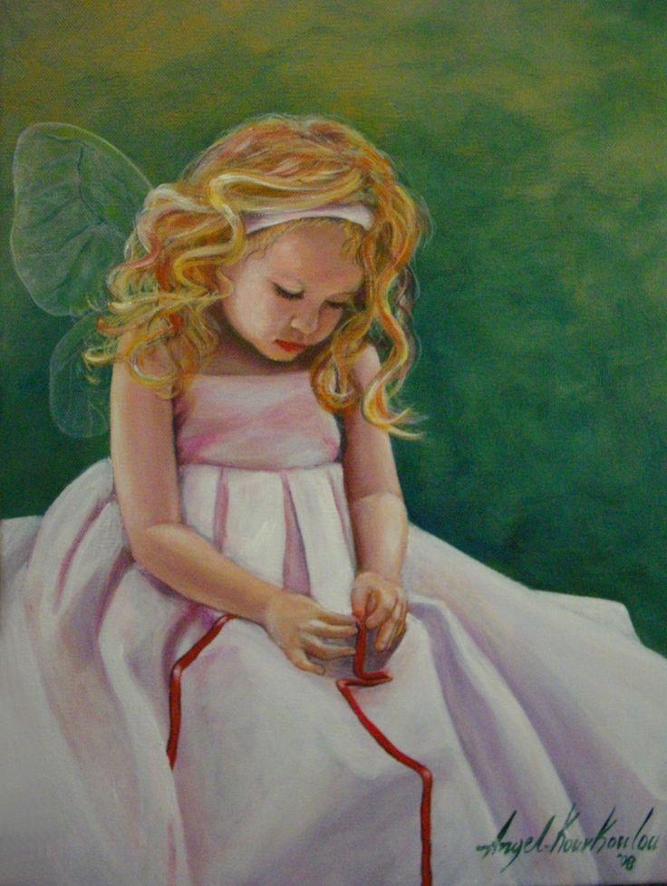 LITTLE ANGEL I, acrylic on canvas, 30x40cm