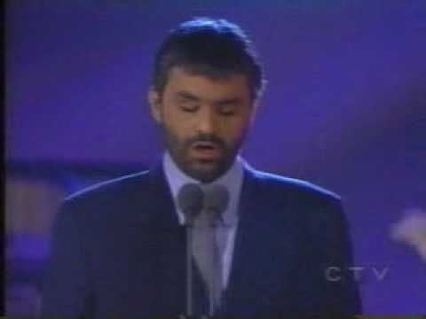 Andrea Bocelli singing Ave Maria by Mascagni in 1998