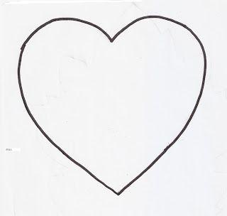 Moldes de corazón. Ampliando o reduciendo, se puede contar con un sinnúmero de tamaños.