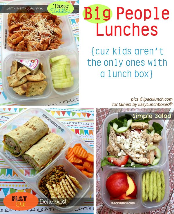 "Healthy Lunch Ideas - not sure why the blogger decided to use the word ""cuz"" to describe an adult lunch list, but I'll give it a shot..."