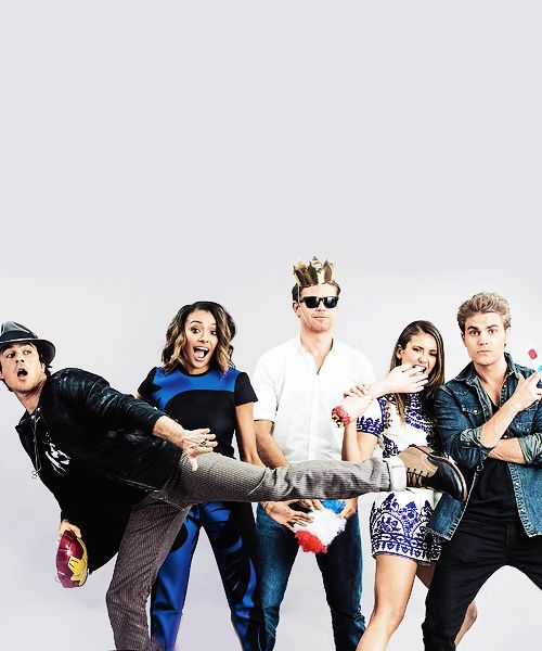 TVD Cast Goofy Picture