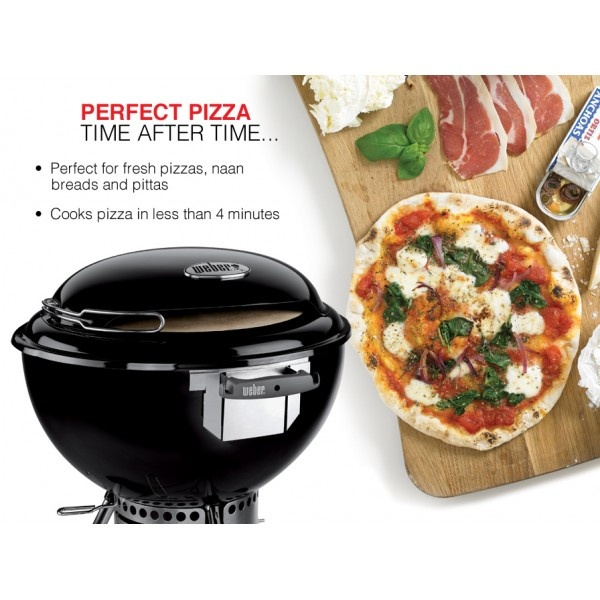 The Weber Charcoal Pizza Oven makes perfect pizza time after time - New for 2013 Perfect for fresh pizza, naan breads and pittas. Cooks amazing pizza in less than 4 minutes once heated. Great fun for kids to create and watch their own pizza being cooked on the Weber Pizza Oven. http://www.bbqs2u.co.uk/content/21-weber-pizza-oven-recipe-demo-review-how-to-use-weber-pizza-oven-guide