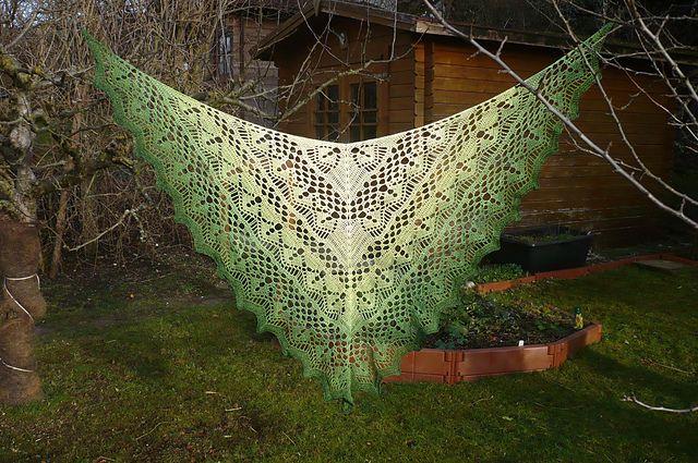Calypso shawl - also Dutch pattern + 3 diagrams